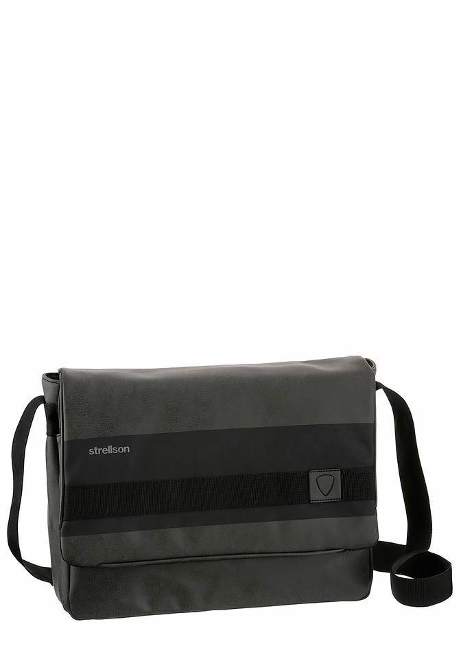 Strellson Messenger Bag »Finchley«, mit Zierband inklusive Logo Aufnäher | Taschen > Business Taschen > Messenger Bags | Grau | Strellson