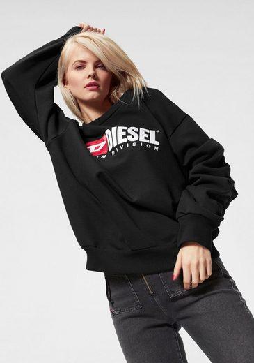 Diesel Sweatshirt »ARAP« mit Raffungen am Ärmel
