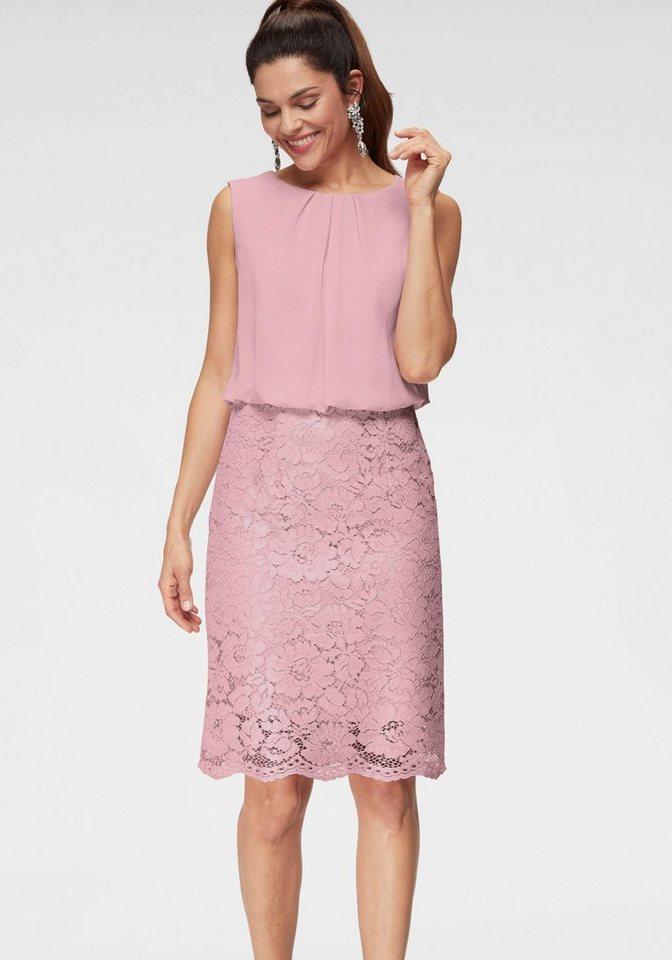 hochwertiges Design bf342 a5567 select! By Hermann Lange Abendkleid im 2-in-1-Look, Chiffon-Oberteil,  Spitzenrock online kaufen | OTTO