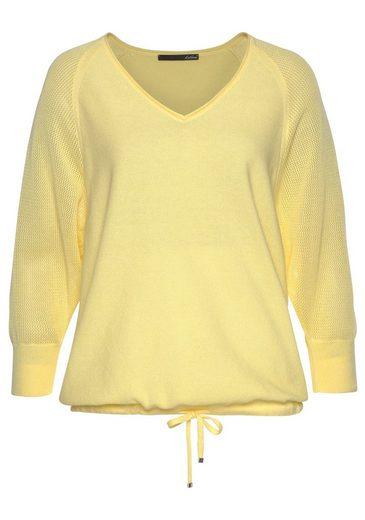 Lecomte Qualität In pullover V ausschnitt Leichter mix Mit Strick 4wBF4rq
