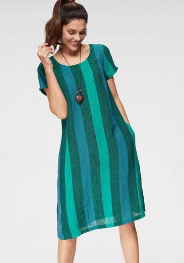 SAMMER Berlin Sommerkleid aus Leinen mit breiten Streifen