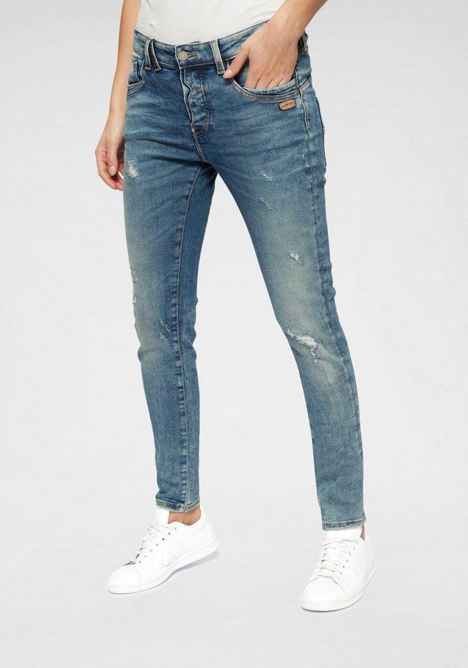 GANG Destroyed-Jeans »GERDA« (1-tlg) mit Destroyed-Effekten | Bekleidung > Jeans > Destroyed Jeans | Blau | Denim | GANG