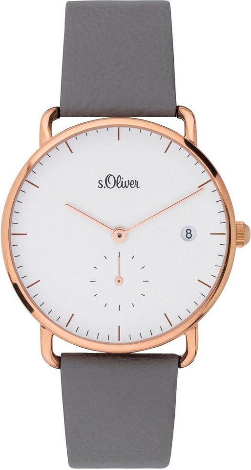 s.Oliver RED LABEL Quarzuhr »SO-3714-LQ« mit kleiner Sekunde | Uhren | Grau | s.Oliver RED LABEL