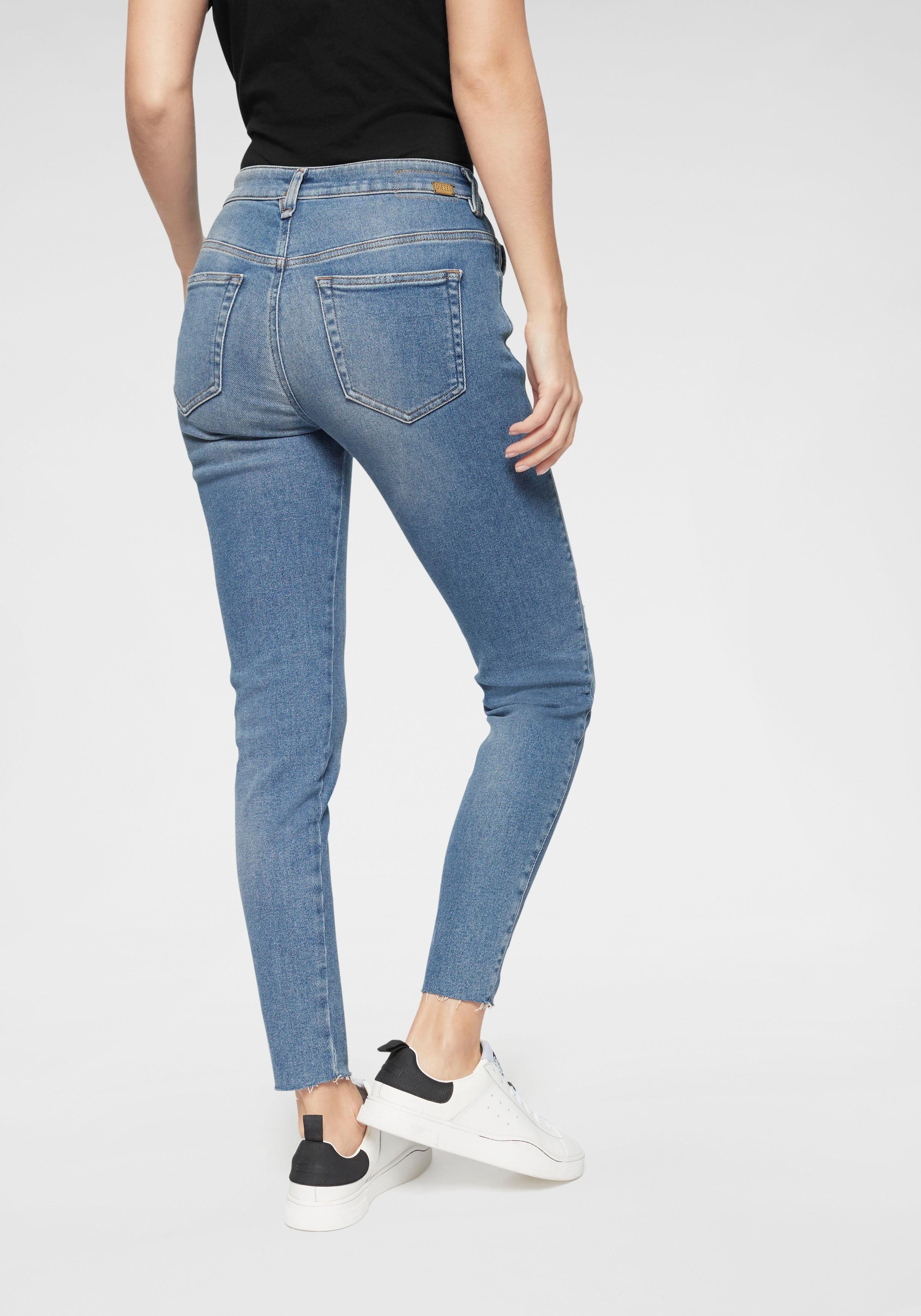 Damen Jeans Baggy Boyfriend Hose Chino Stretch Pailetten Stonewashed hueftjeans
