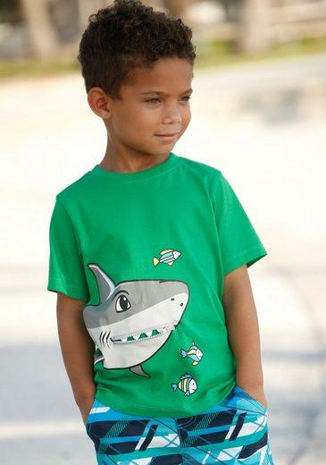 Arizona T-Shirt »Reißverschluss« mit Druck und Applikation