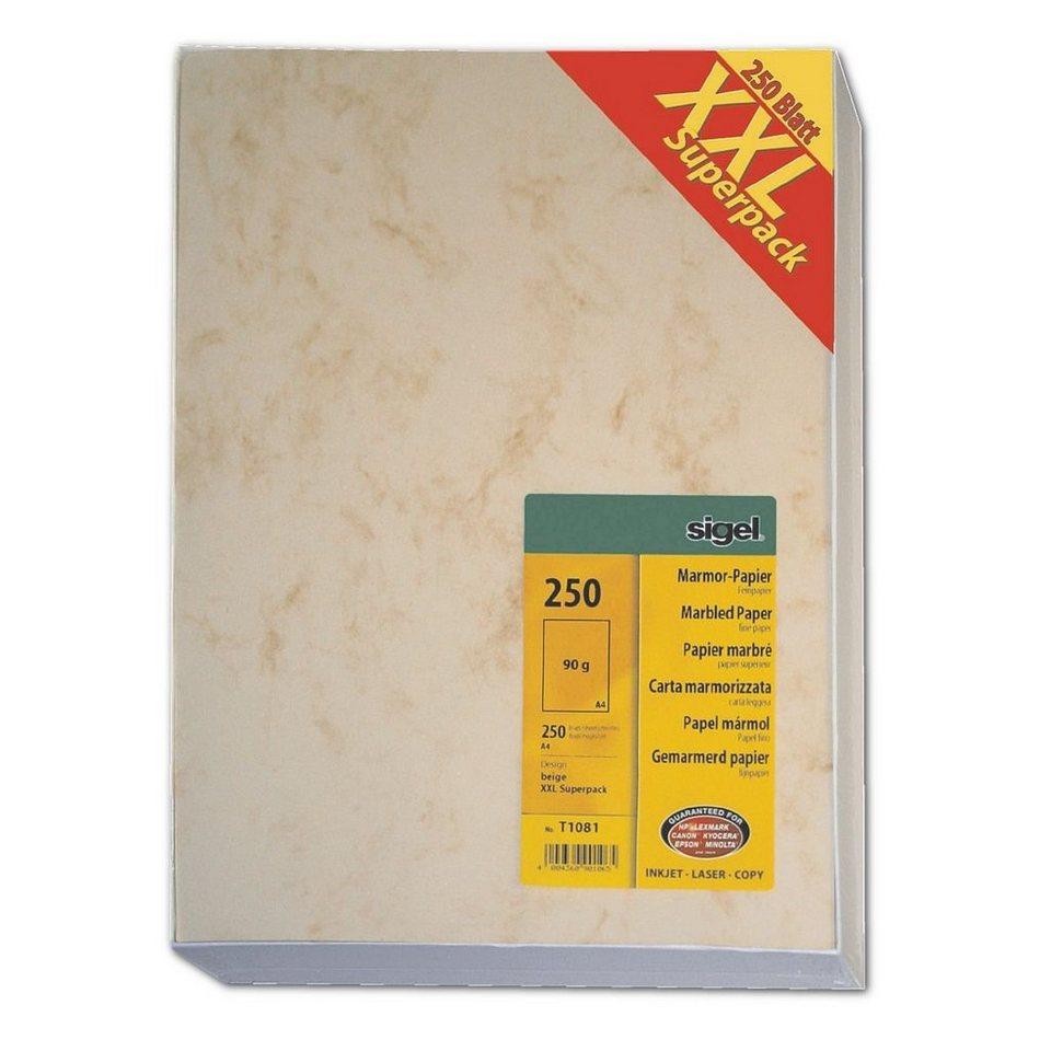 Sigel Großpack Marmorpapier in beige