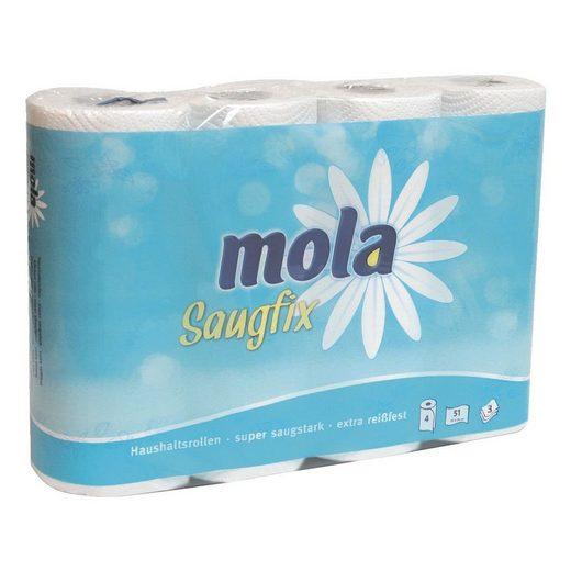 MOLA Küchenrollen 3-lagig, 4 Rollen