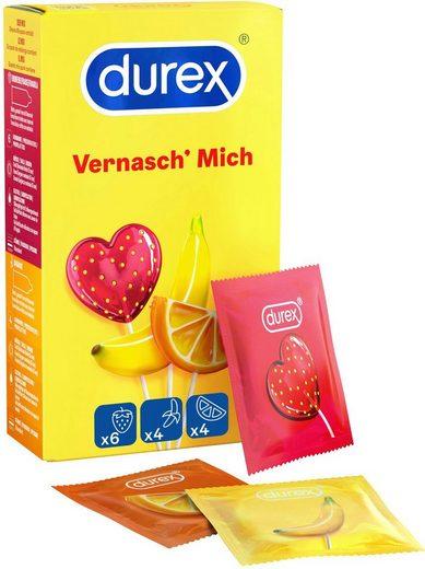 durex Kondome »Vernasch Mich« Packung, 14 St., mit verschiedenen Aromen