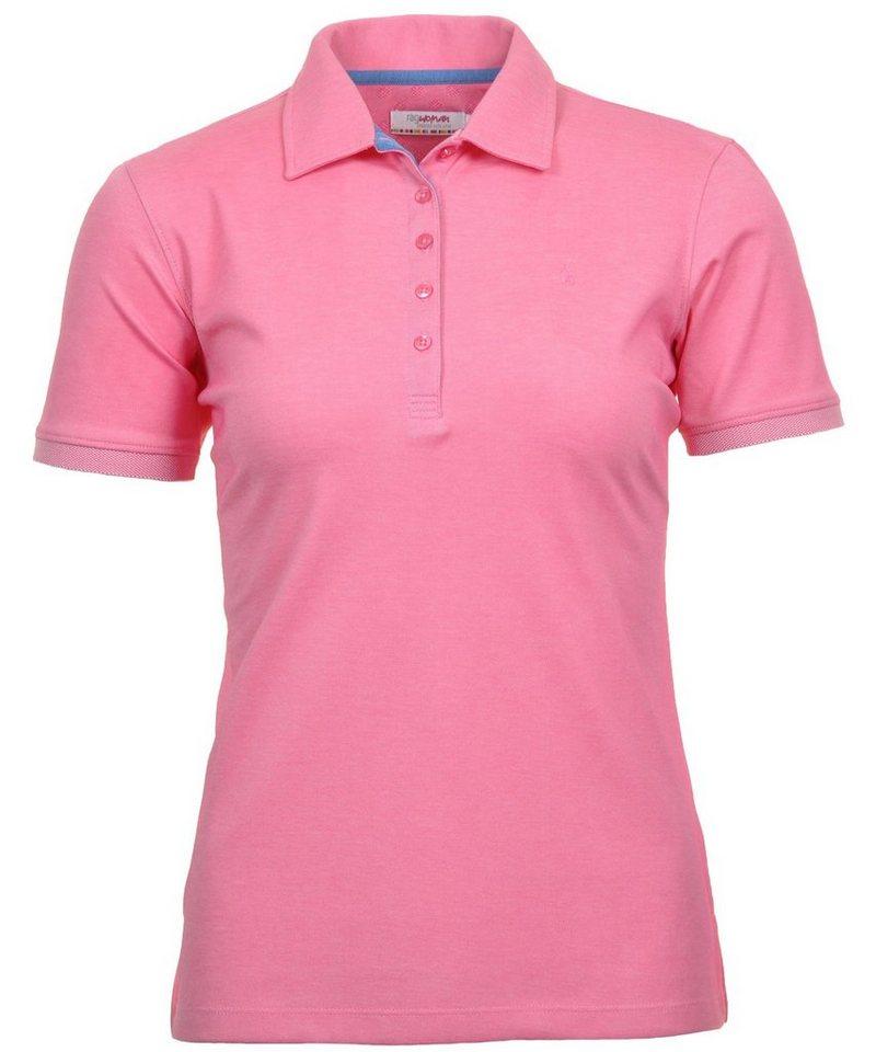 Damen RAGMAN Poloshirt rosa | 04056254650627