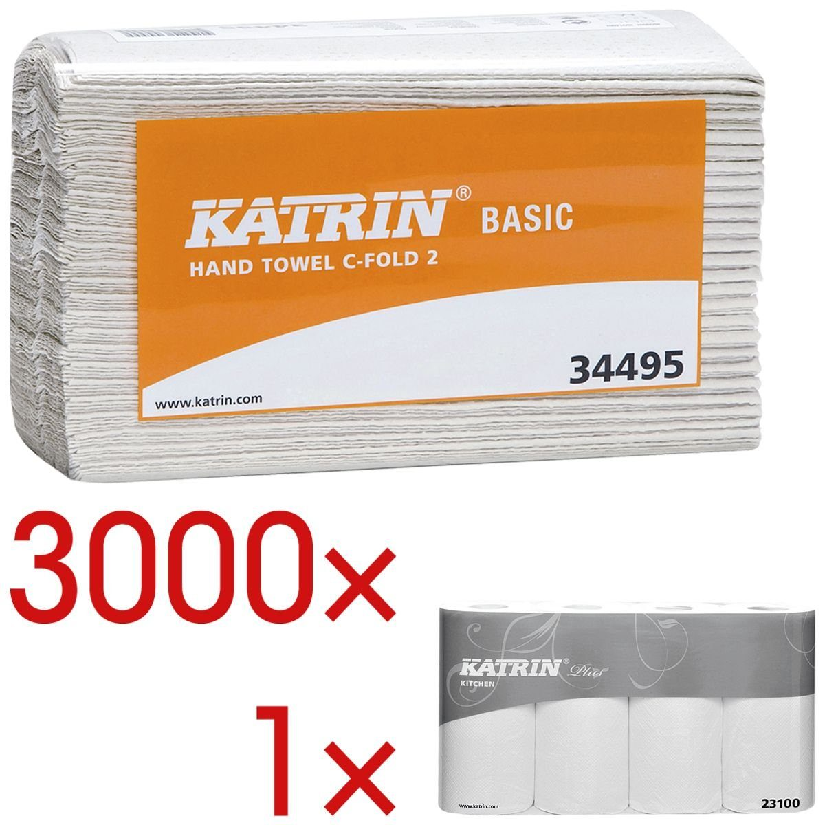 Katrin Papierhandtücher inkl. 4 Küchenrollen »Plus« 1 Set
