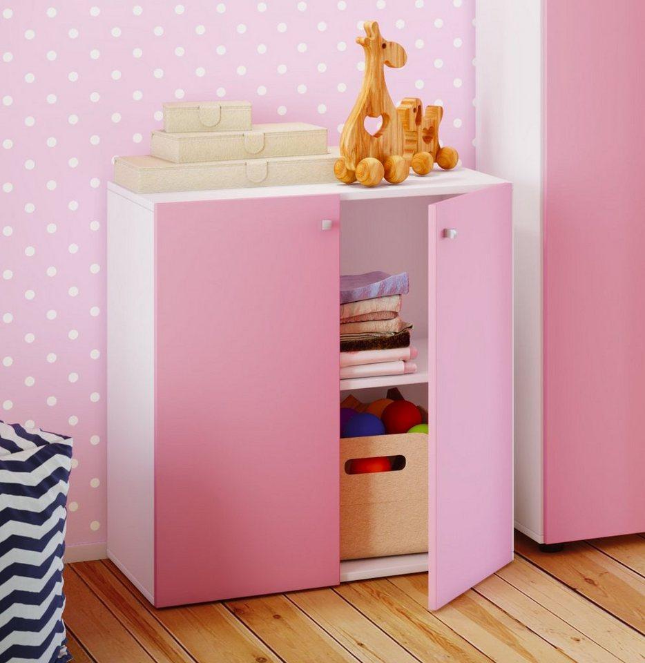 VCM Kinder - Kommode ´´Vandol Mini´´ | Kinderzimmer > Kinderzimmerschränke | Rosa | Metall - Nachbildung | VCM