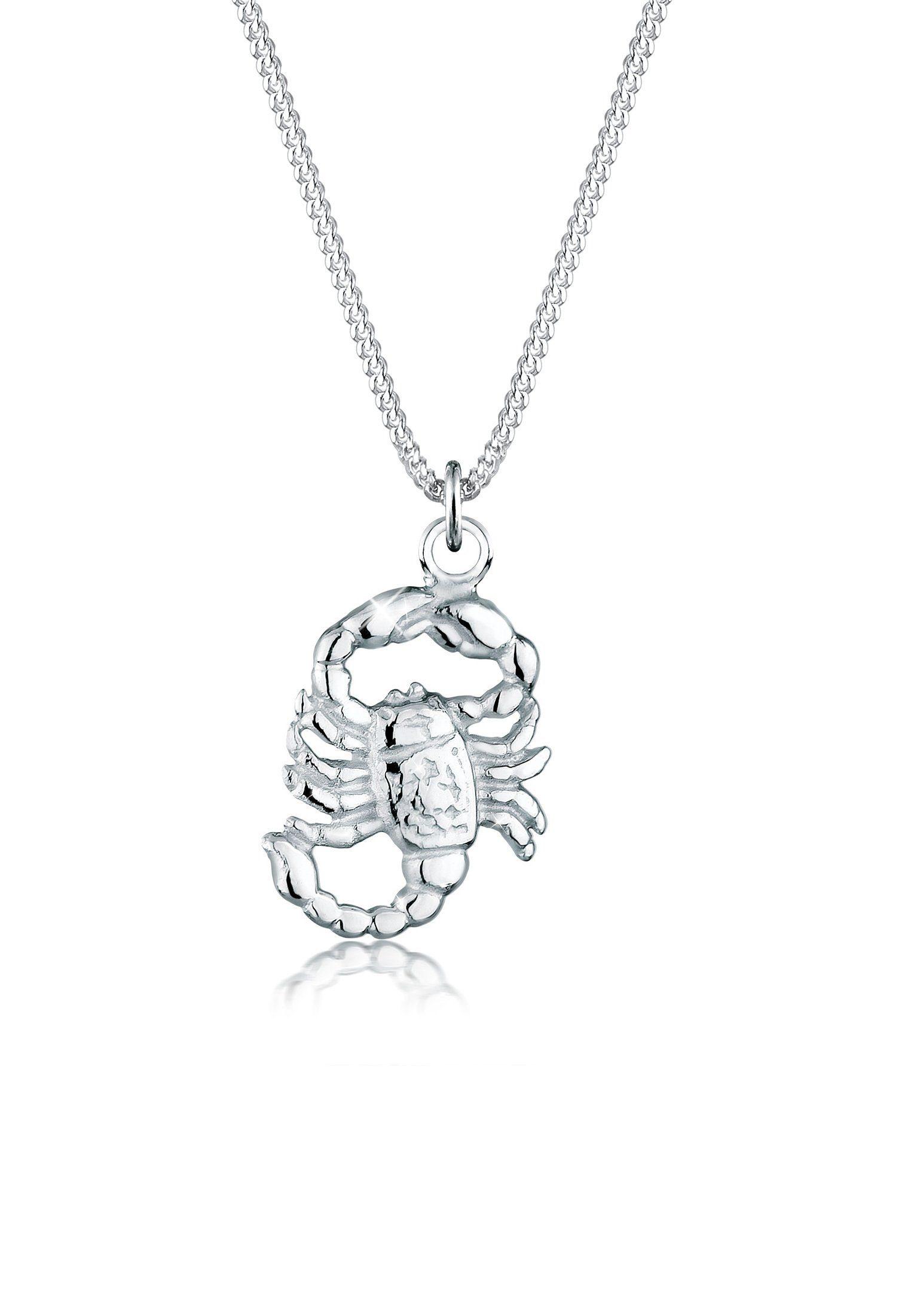 Elli Collierkettchen »Sternzeichen Skorpion 925 Sterling Silber«