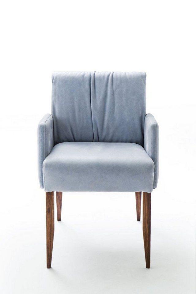 kawola esszimmerstuhl mit armlehne leder hellblau lamis. Black Bedroom Furniture Sets. Home Design Ideas