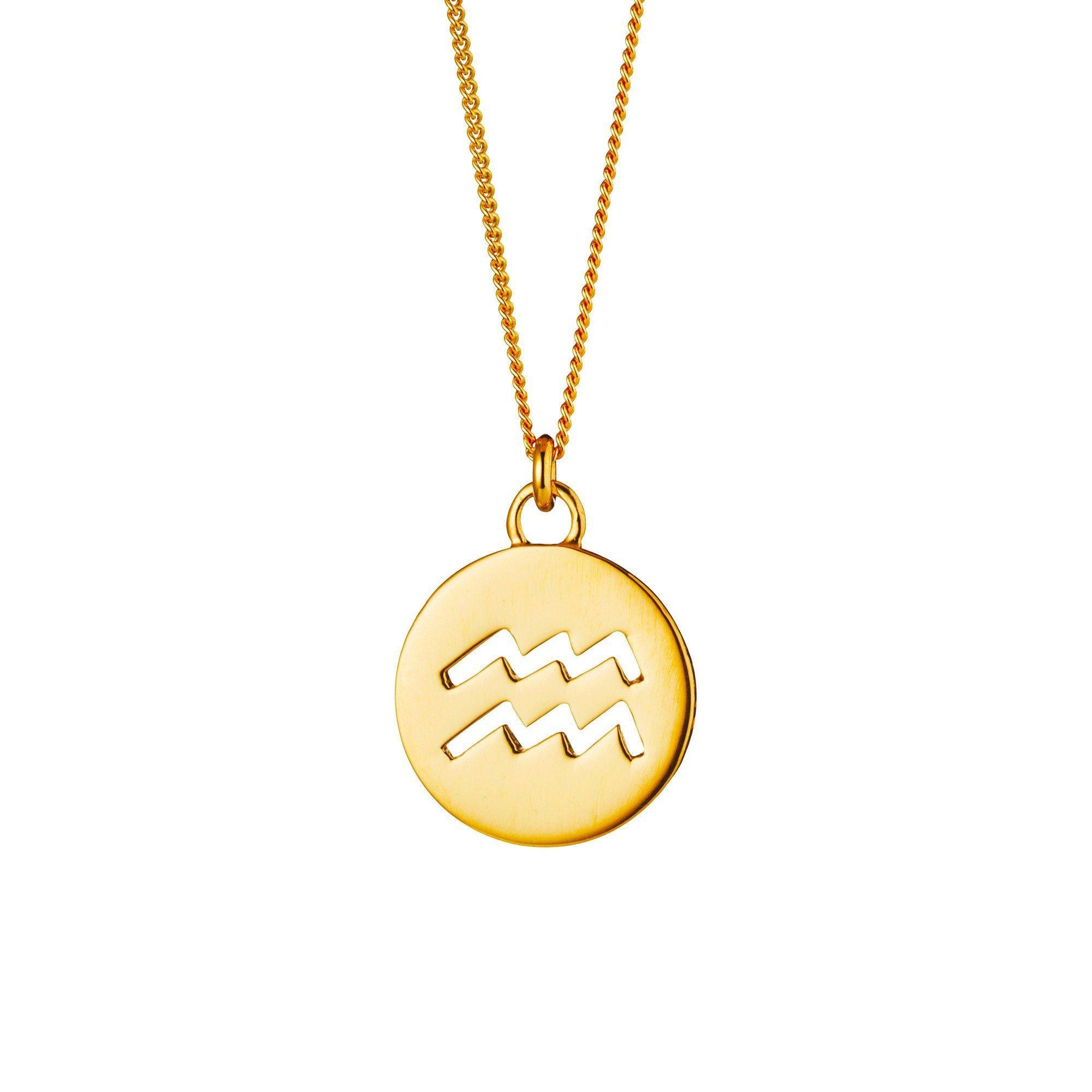 CAÏ Halskette »Wassermann Sternzeichen 925 Sterling Silber verg« online kaufen | OTTO