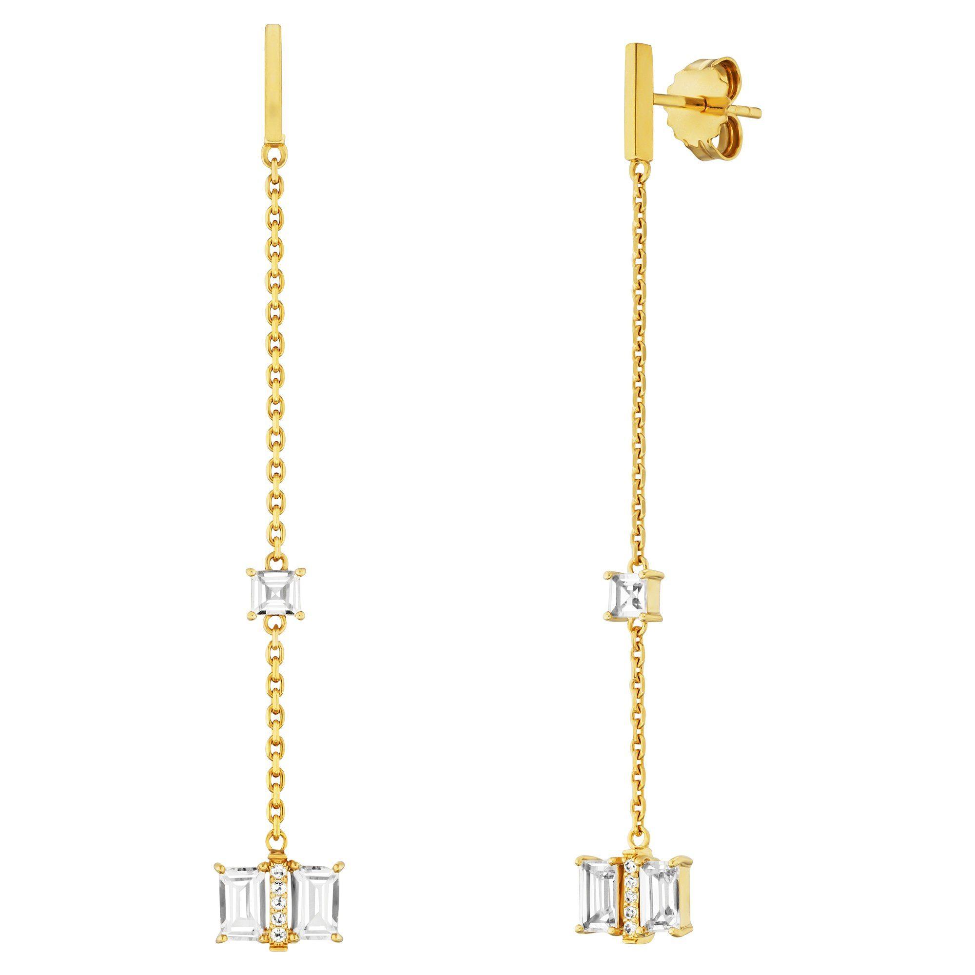 Cai Ohrhänger »925/- Sterling Silber vergoldet mit Weißtopas«