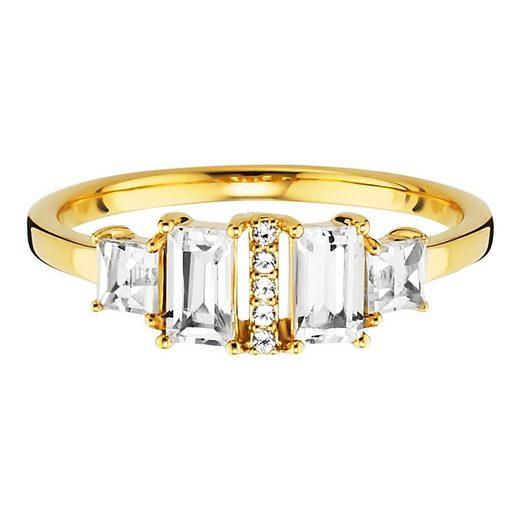 CAÏ Ring »925/- Sterling Silber vergoldet mit Weißtopas«