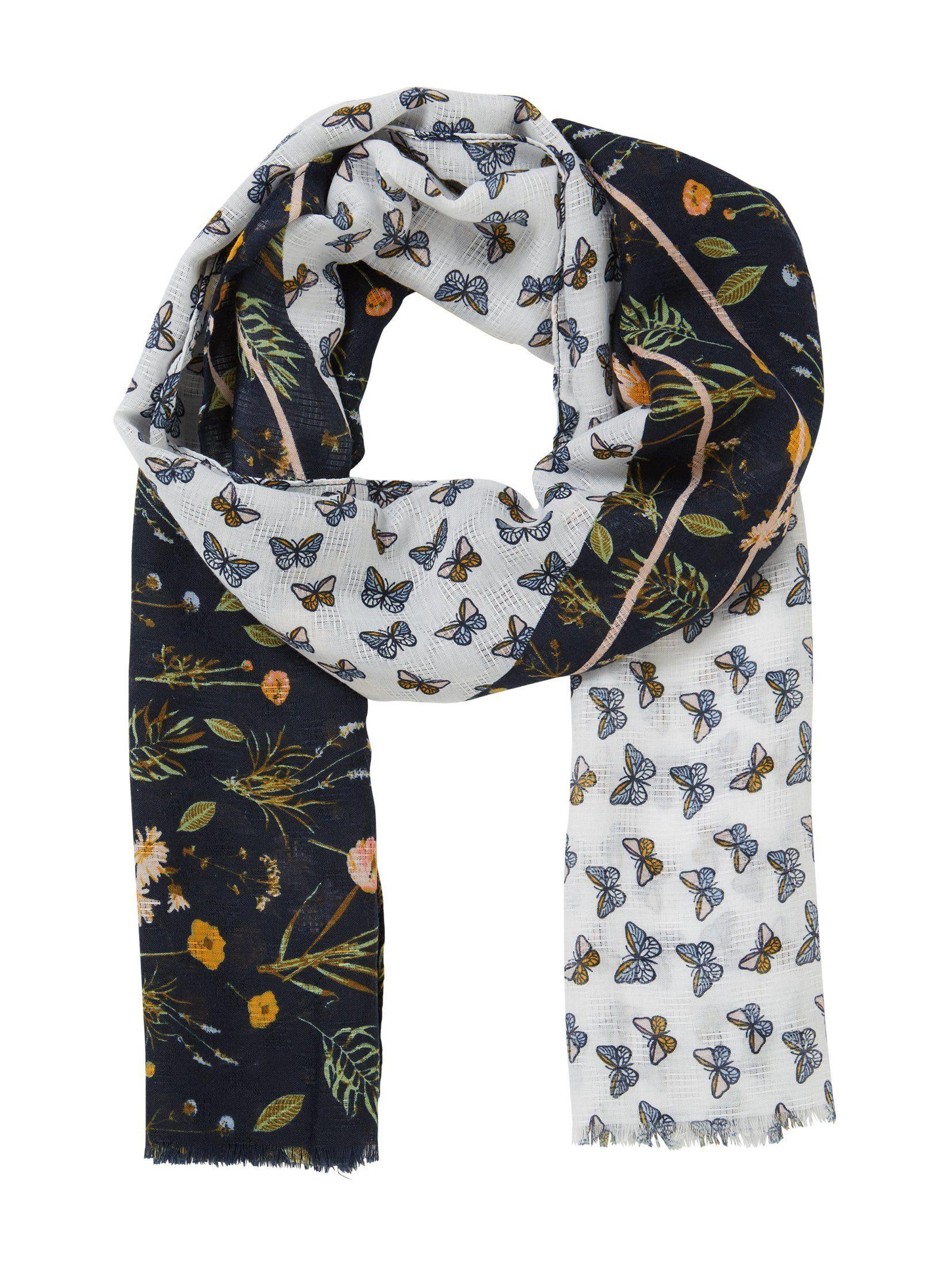 Tom Tailor Modeschal »Schal mit zweigeteiltem Muster«