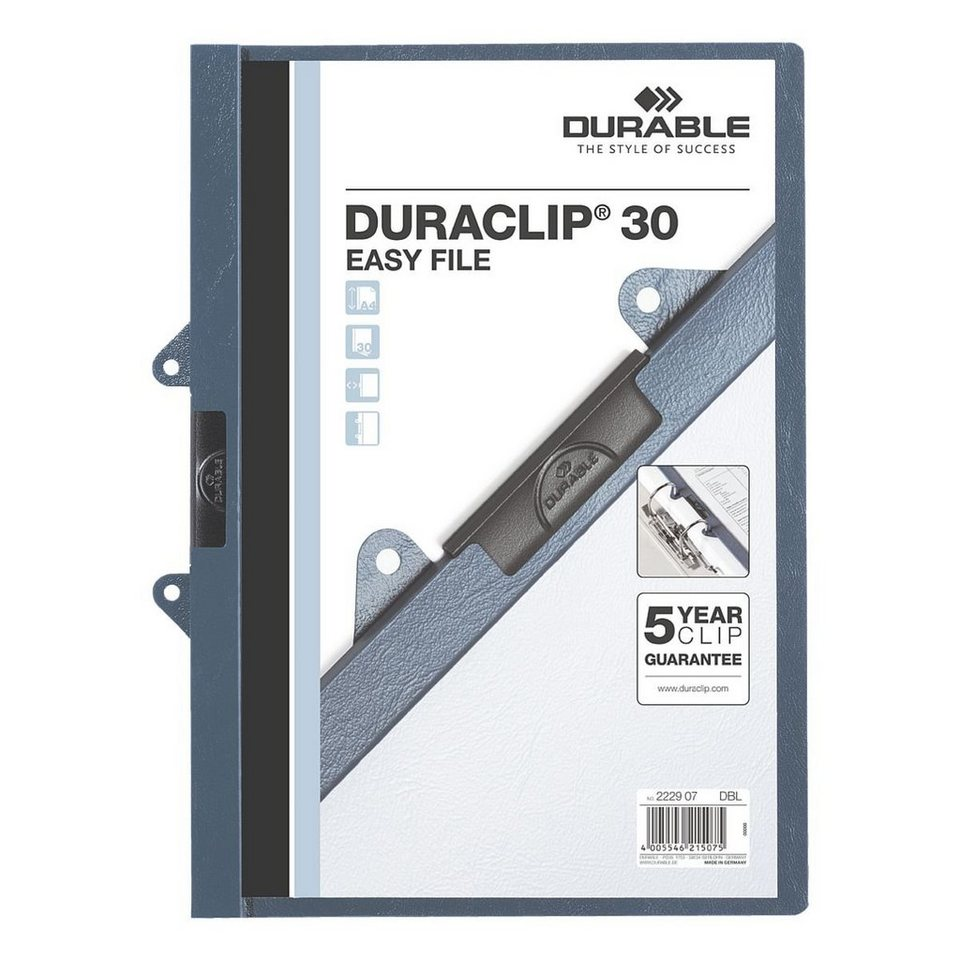 Durable Klemmhefter »Duraclip Easy File« in blau