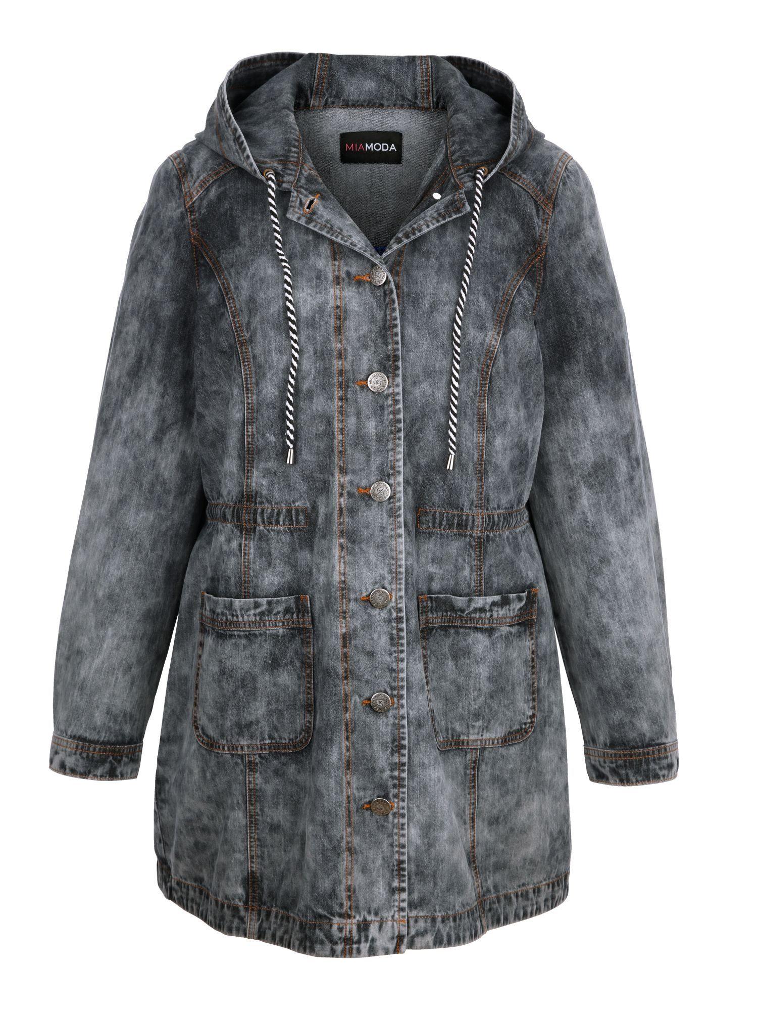 MIAMODA Jeansjacke im modischen Parka-Style