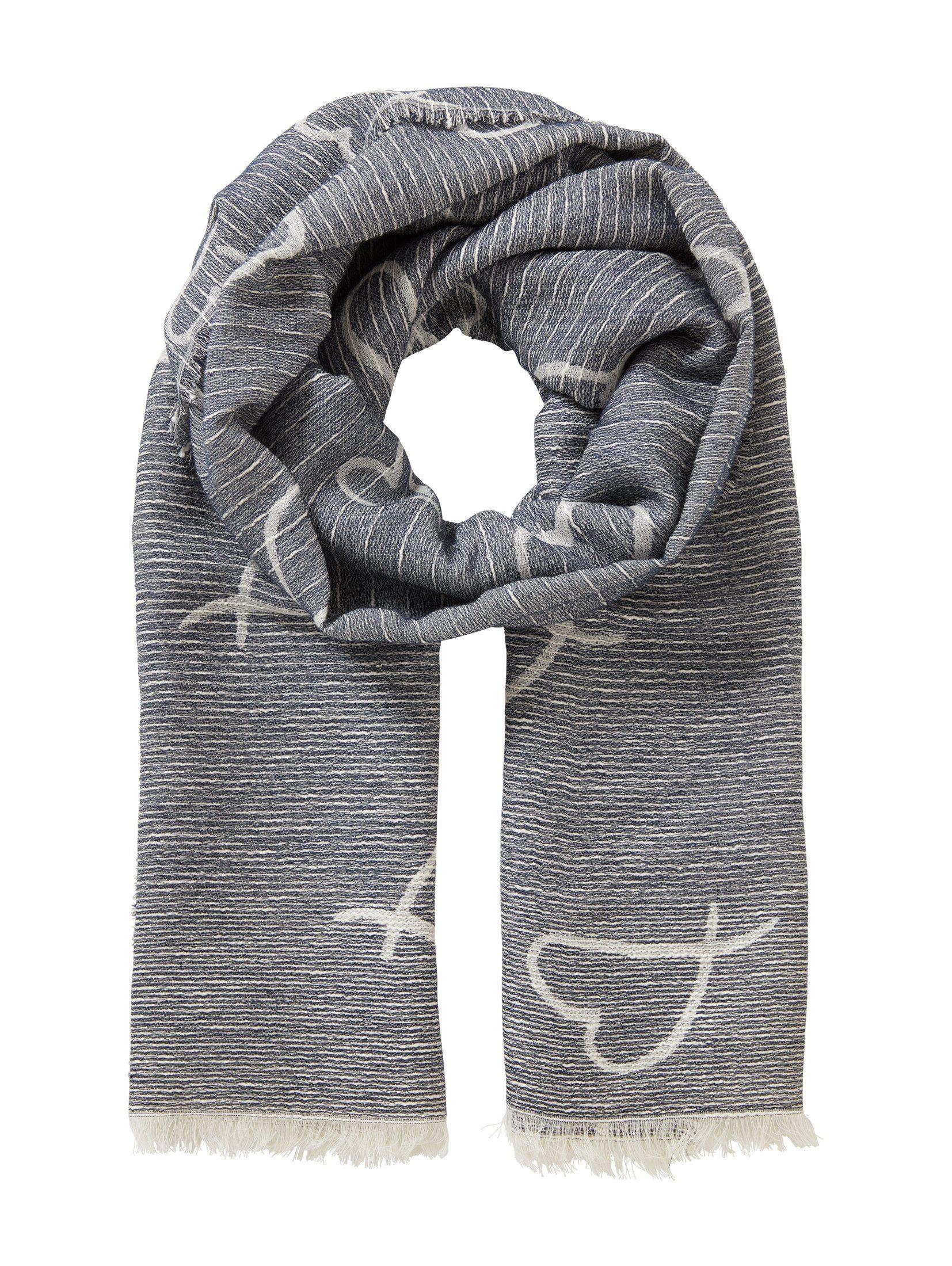 Tom Tailor Denim Modeschal »Schal mit Herzen und Fransen«