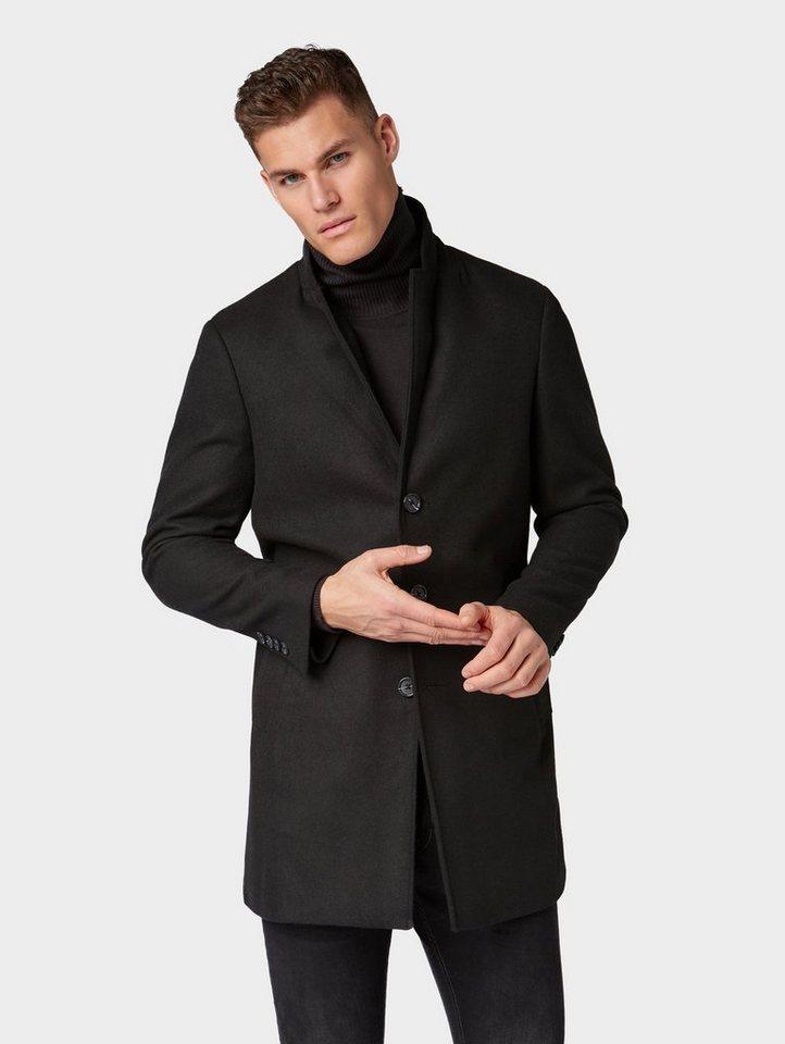 Tom Tailor Wollmantel »Klassischer Mantel mit Knopfleiste« online ... bc1bd16f57