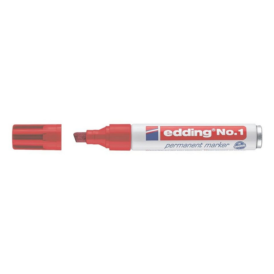 Edding Permanent-Marker »No. 1« in rot
