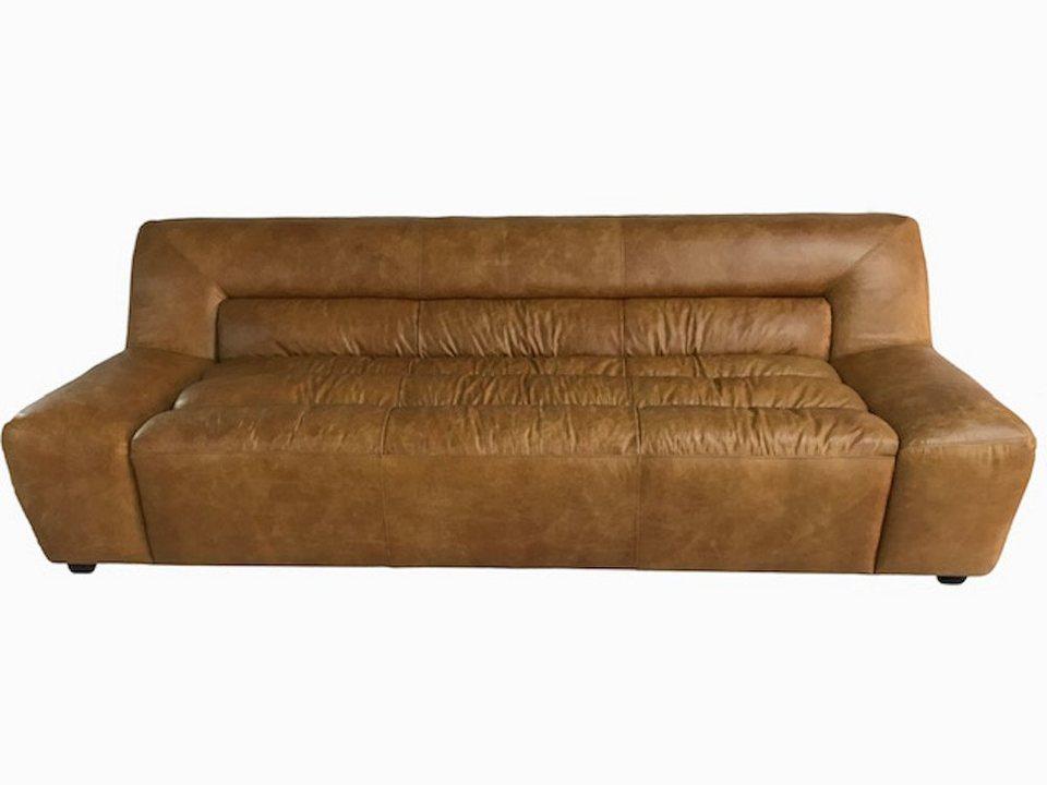 kawola sofa leder 3 sitzer cognac bud kaufen otto. Black Bedroom Furniture Sets. Home Design Ideas