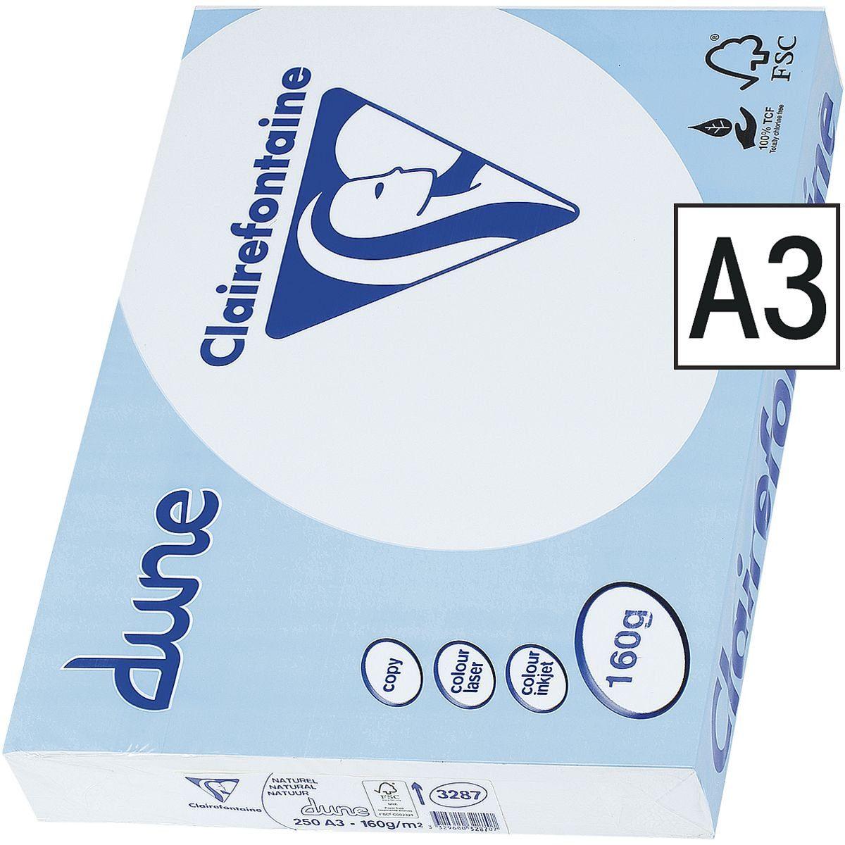 Clairefontaine Multifunktionales Druckerpapier (weiß mit Cremefärb... »Dune«