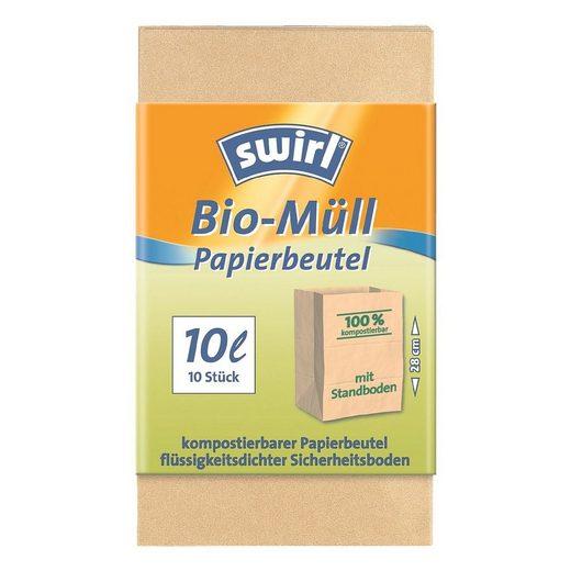 Swirl 10 Bio-Abfallbeutel 10 L braun
