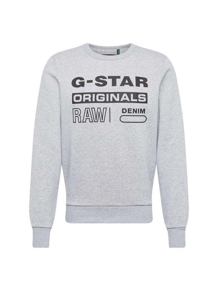 Herren G-Star RAW Sweatshirt Swando-s grau | 08719764861698
