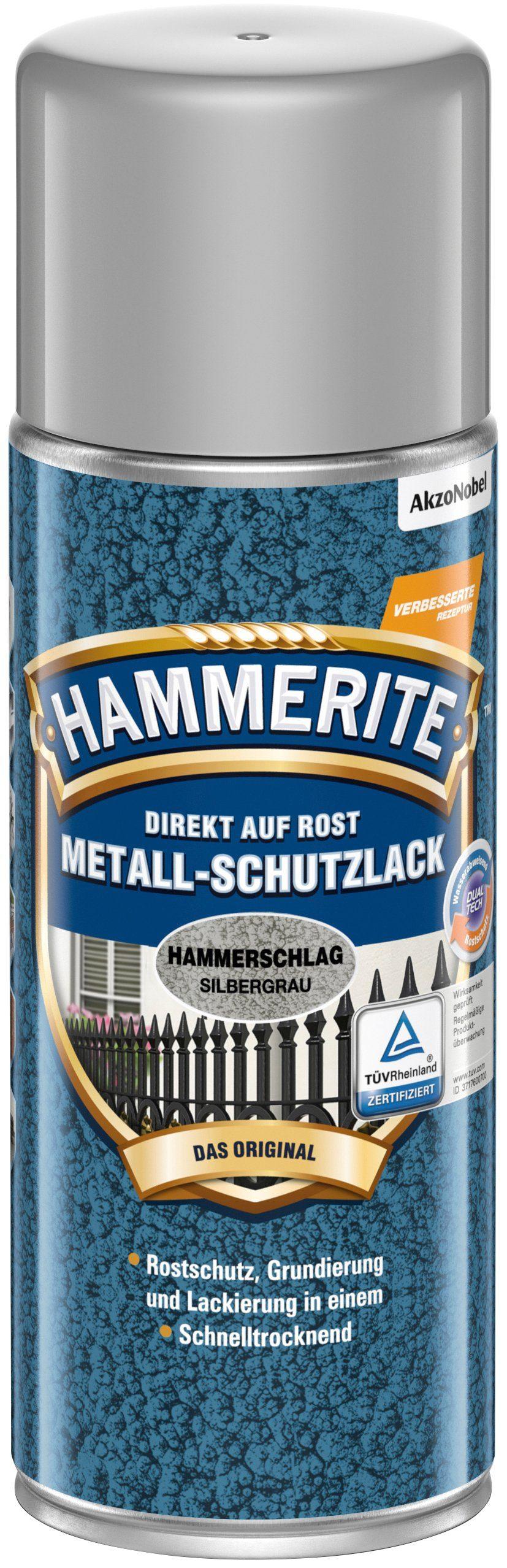 HAMMERITE Metallschutzlack »Hammerschlag Sprühdose«, silbergrau, 400 ml