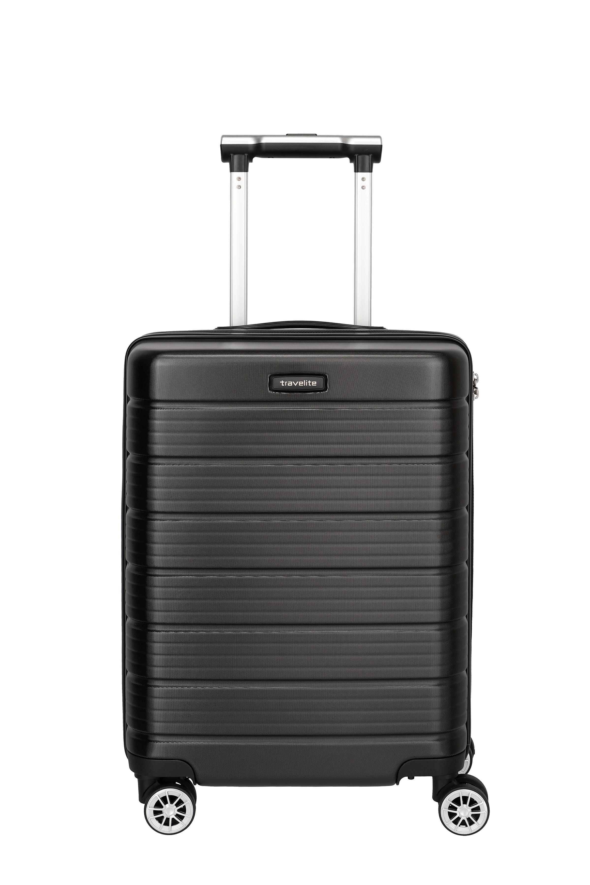 travelite Hartschalen-Trolley »Soho, 55 cm«, 4 Rollen, USB-Schleuse, Haken für Jacke/Sakko
