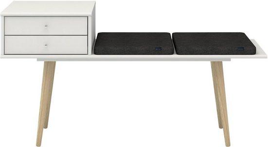 hammel Sitzbank »MISTRAL«, mit Schubladen und 2 Sitzkissen, Breite 133 cm