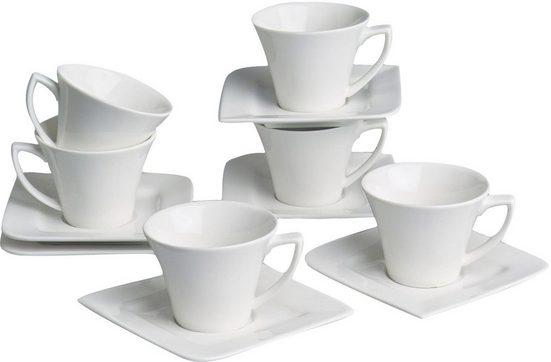 Retsch Arzberg Espressotasse »Fantastic« (12-tlg), Fine China Porzellan, 6 Espressotassen, 6 Untertassen