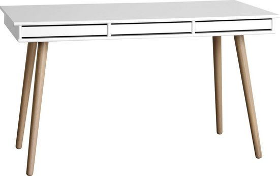 hammel Schreibtisch »MISTRAL«, mit Holzbeinen und drei Schubladen, Breite 137,4 cm, Danish Design