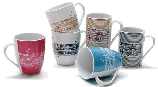 Retsch Arzberg Becher »Kaffee«, Porzellan, 6-teilig