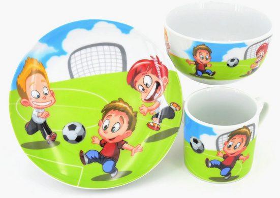 Retsch Arzberg Kindergeschirr-Set »Fußball« (3-tlg), Porzellan