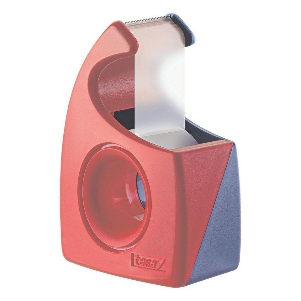 Tesa Handabroller »Easy Cut« in rot/blau