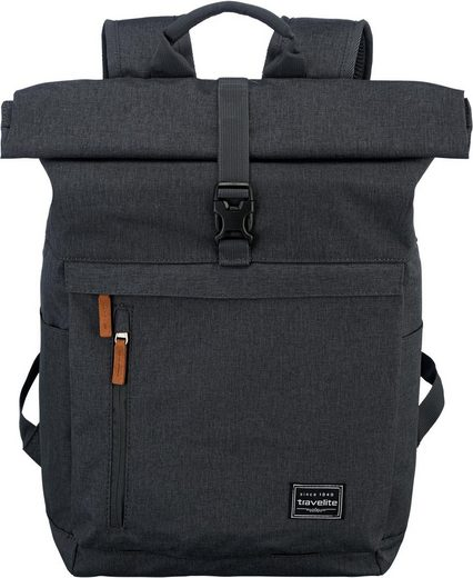 travelite Laptoprucksack »Basics Rollup, Anthrazit«