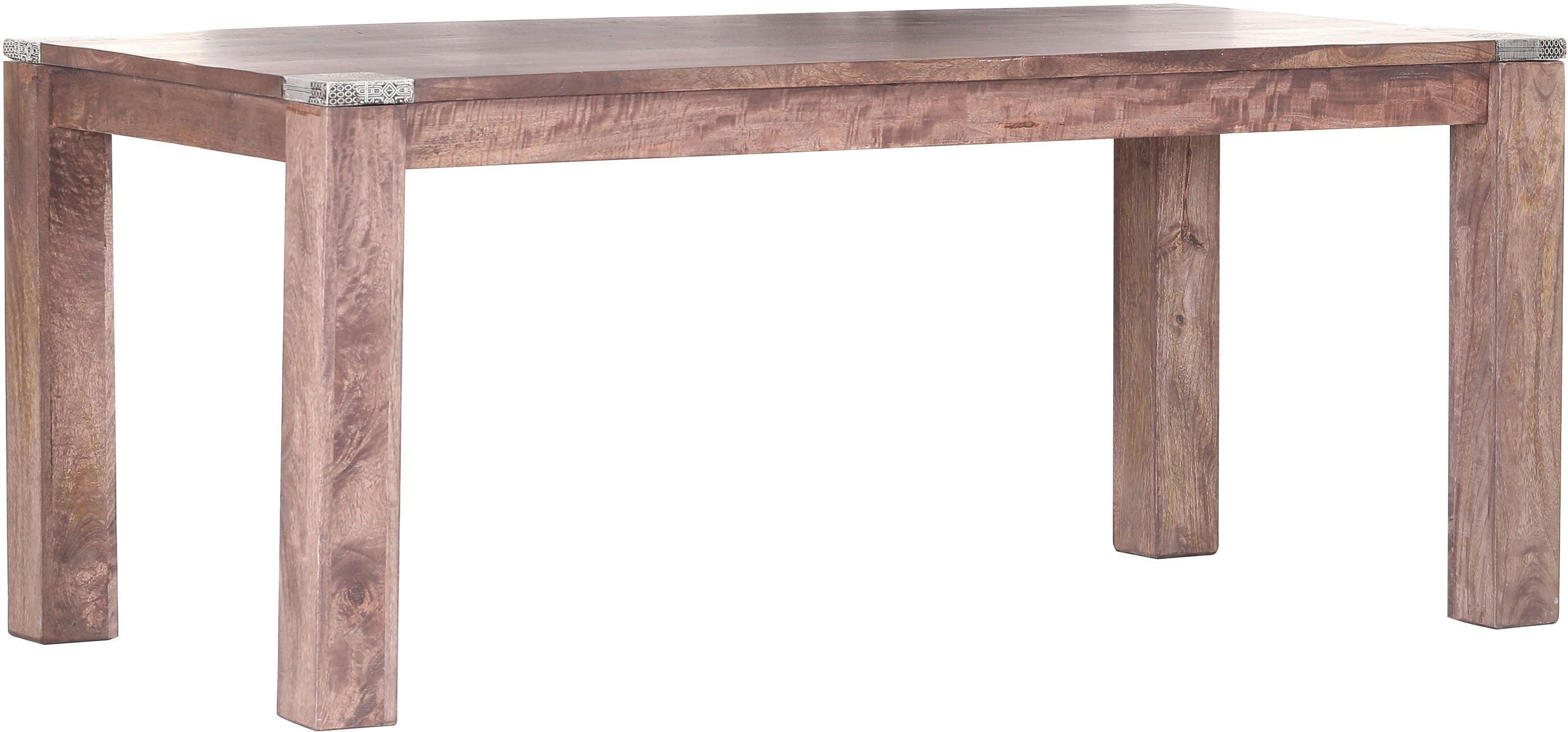 Gutmann Factory Esstisch »Moreno« mit verzierten Tischecken aus Metall