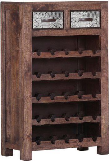 Gutmann Factory Flaschenregal »Moreno« mit aufwändigen Metallverzierungen, Höhe 105 cm