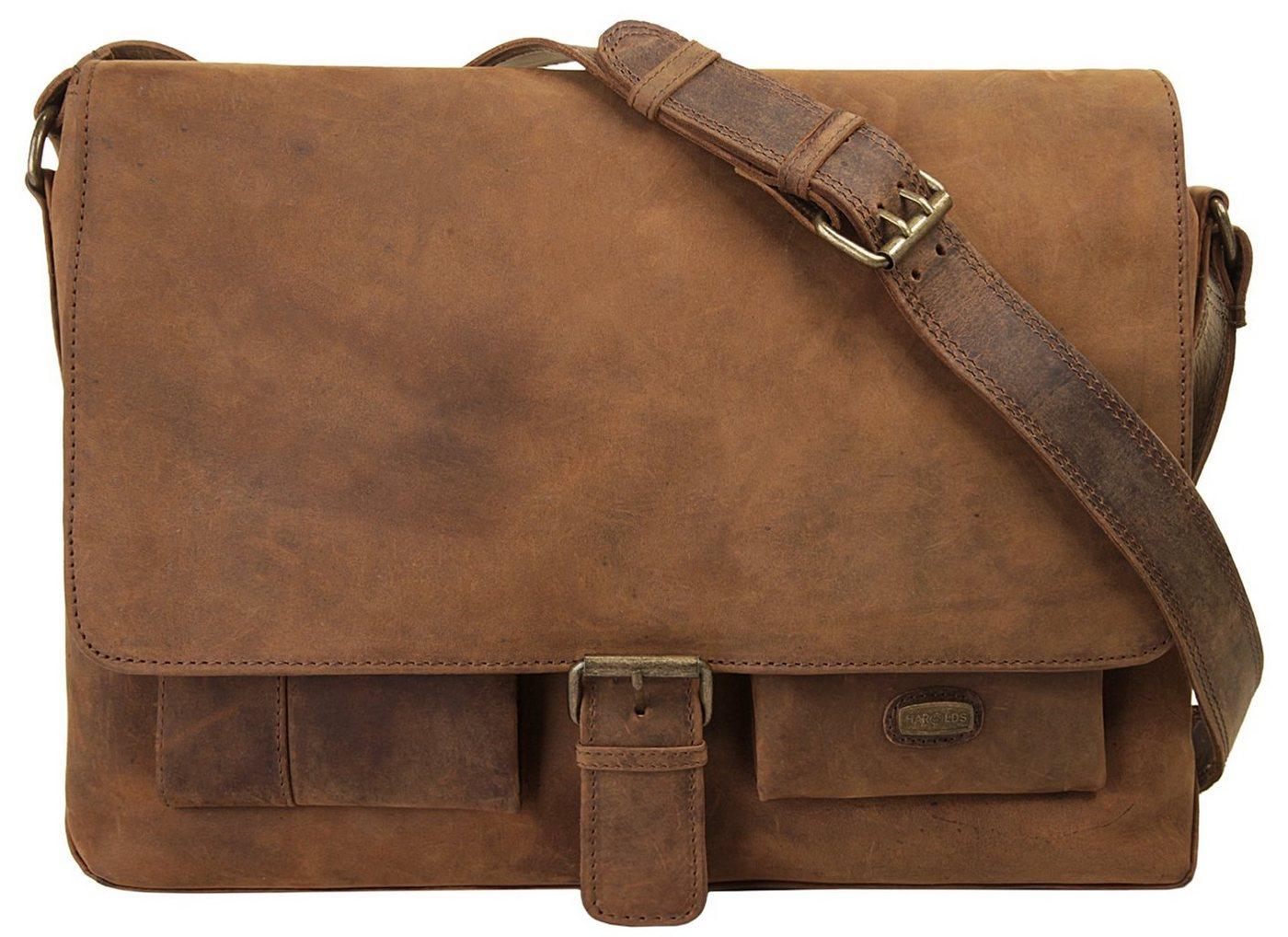 Harold´s Messenger Bag »ANTIC«, vegetabil gegerbt | Taschen > Business Taschen > Messenger Bags | Braun | Harold´s