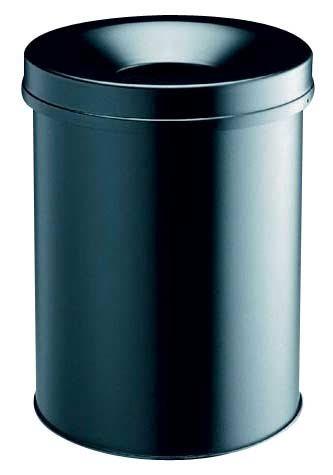 Durable Stahl-Papierkorb in schwarz