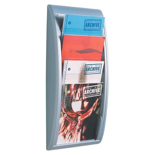 Protaurus Wandhalter für Prospekte DIN A4, alufarben