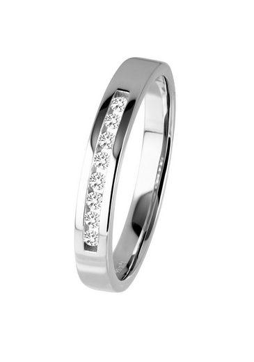 Diamond Line Gold-Ring mit Diamant-Besatz