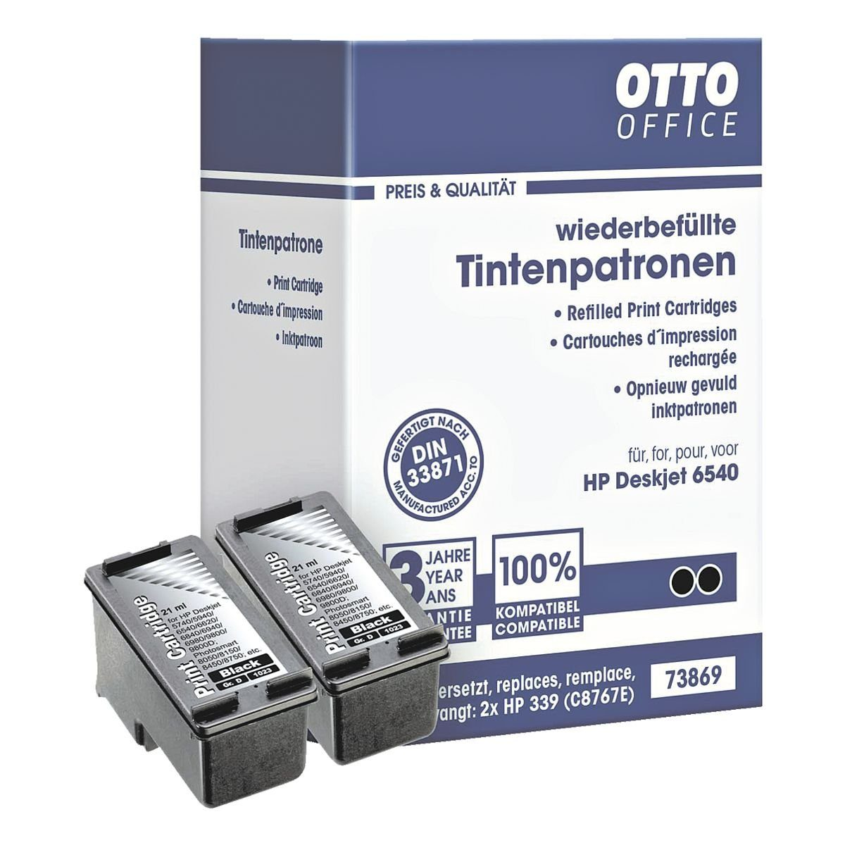 OTTO Office Standard Tintenpatronen-Set ersetzt HP »C8767EE« Nr. 339