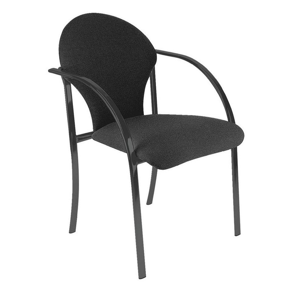 Nowy Styl 2er-Set Besucherstühle »Visa black« in schwarz
