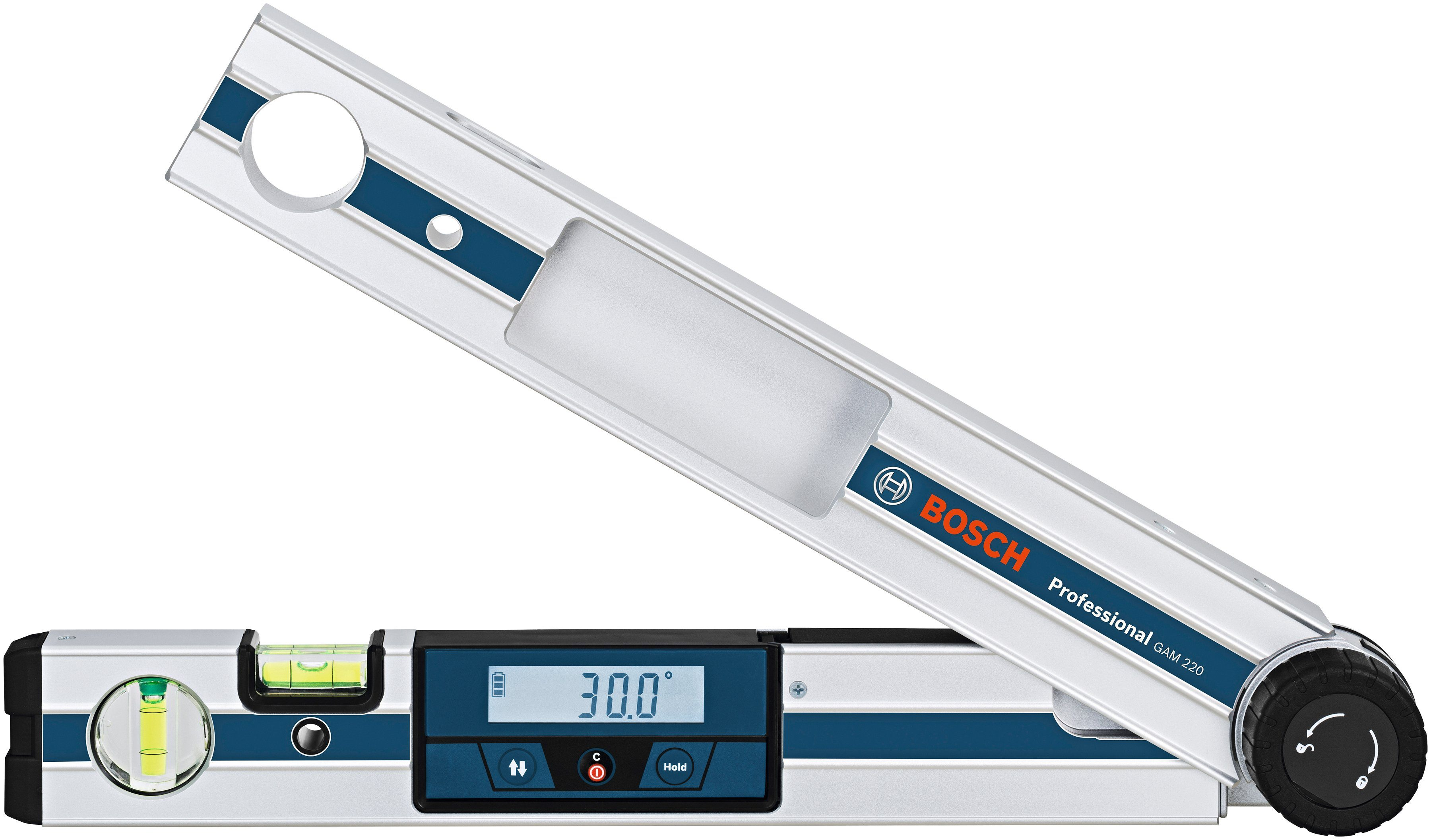 BOSCH PROFESSIONAL Winkelmesser »GAM 220«, Messbereich: 0 - 220°
