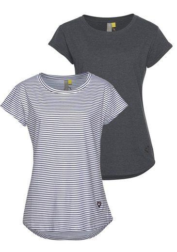 alife and kickin Rundhalsshirt »MimmyAK 2P« (Packung, 2-tlg) modische Basic-Shirts im Doppelpack