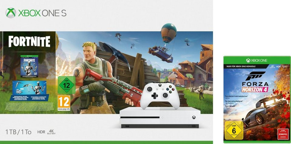 xbox one 1tb bundle inkl fortnite bundle digitale. Black Bedroom Furniture Sets. Home Design Ideas
